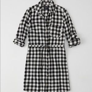 NWOT Abercrombie plaid flannel shirtdress - MTall